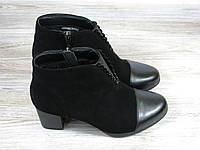 Осенние короткие ботиночки замшевые на каблуке Fabio Monelli, фото 1