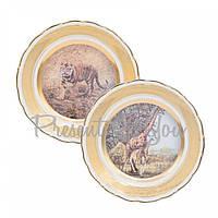 Набор декоративных тарелок «Сафари» Gloria, 2 шт., d-25 см (264-2505A)