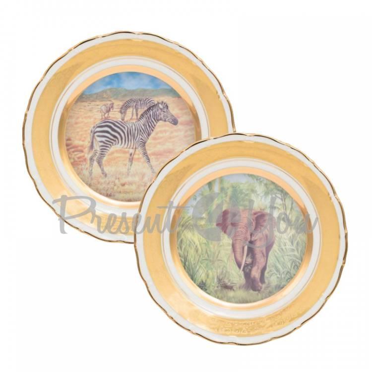 Набор декоративных тарелок «Сафари» Gloria, 2 шт., d-25 см (264-2505B)