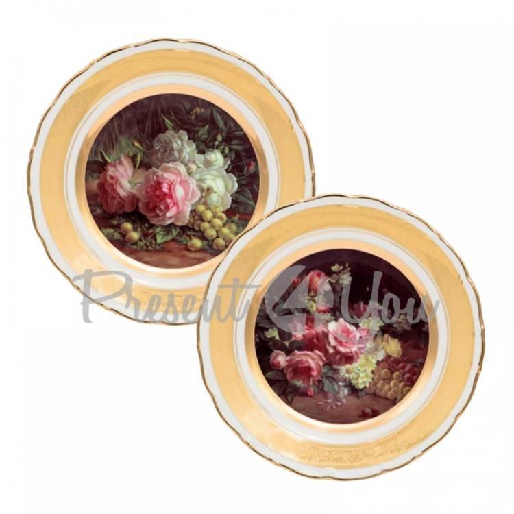 Набор декоративных тарелок «Розы» Gloria, 2 шт.,d-25 cм (264-2514A)
