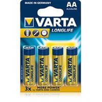 Батарейка VARTA LONGLIFE R-6 AA Блістер алкалайн  (4106101414)