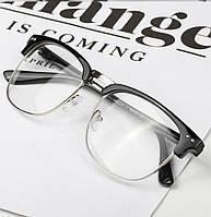 Имиджевые очки в стиле клабмастер Чёрный