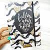 """Блокнот c дизайнерском обложкой """"Follow your heart"""",  А5"""