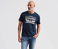 Мужская футболка Levis®  Classic Graphic Teen - Dress Blues Haritage Logo