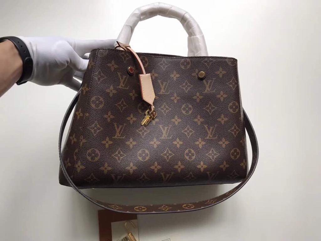 080edcaa1f8d Женская сумка Louis Vuitton Montaigne, Канва Monogram, ...