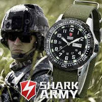 Армейские часы SHARK Army Black Японские механизм, фото 1