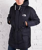 Мужская зимняя парка The North Face черная +4°C (-22°С)