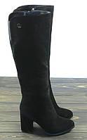 Зимние модные женские сапоги на каблуке Fabio Monelli, фото 1
