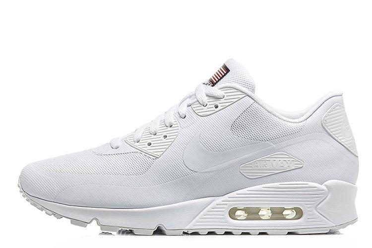 da55bb95 Мужские кроссовки Nike Air Max 90 Hyperfuse White USA| найк аир макс 90  белые оригинал