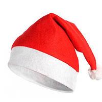 Шапка новорічна Діда Мороза 12 шт. тепла
