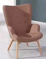Кресло для отдыха из ткани Флорино, цвет коричневый