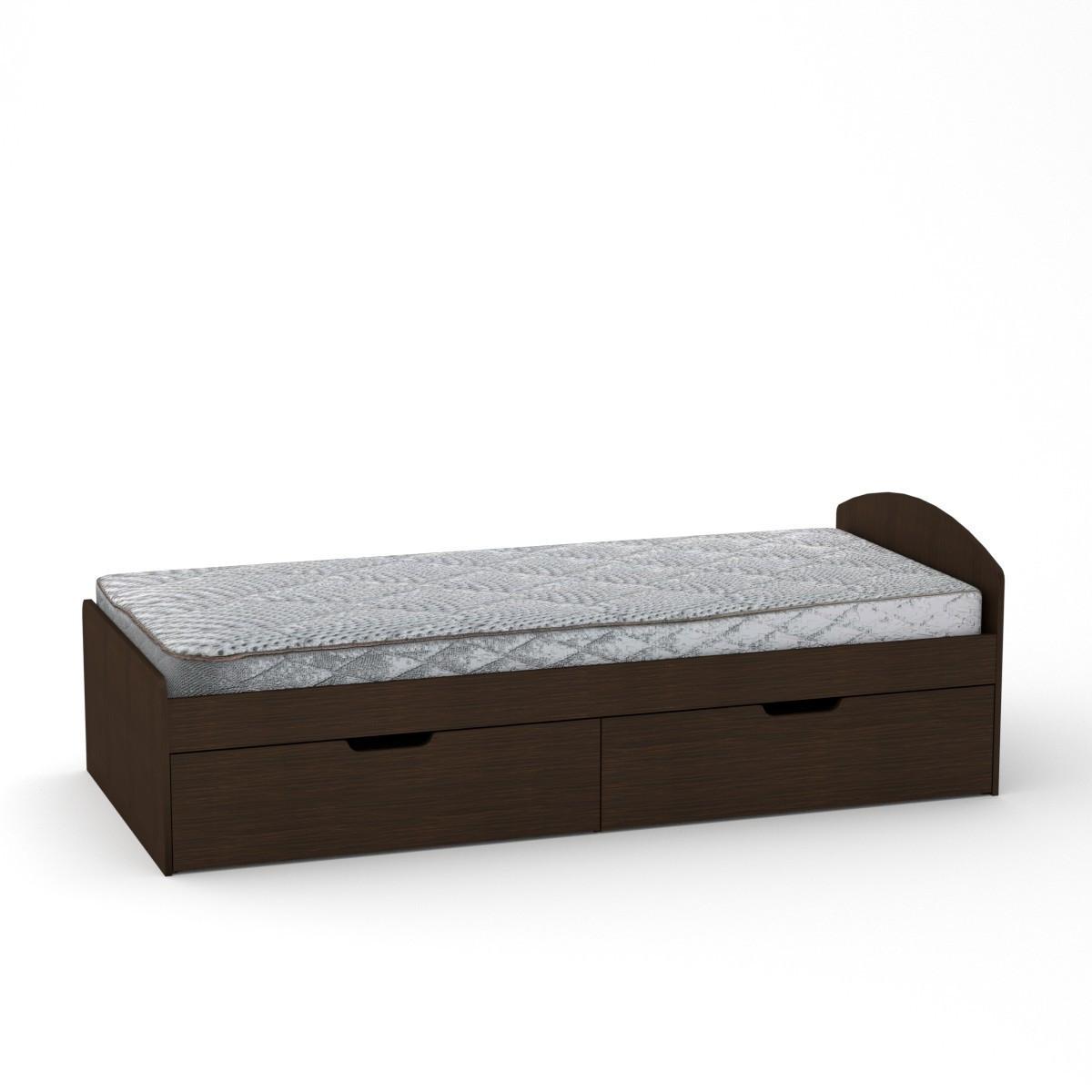 Кровать 90+2 венге темный Компанит (94х204х95 см)
