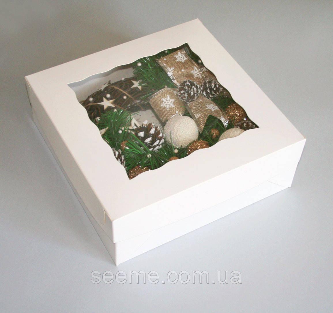 Коробка с окошком, 300х300х100 мм.