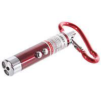 Брелок фонарик 1+1 (лазер + фонарик)