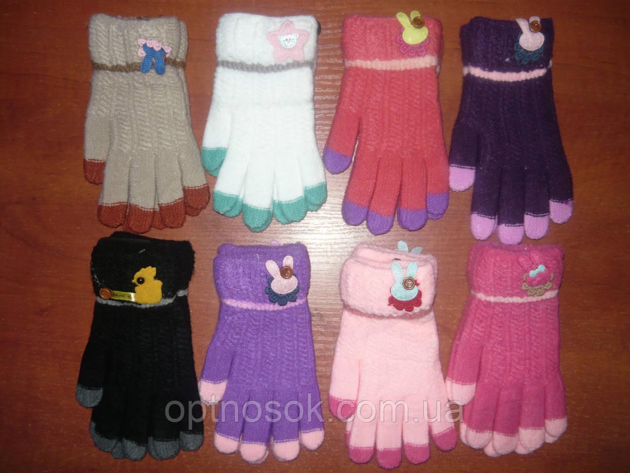 Детские перчатки Корона. Шерсть. Девочка. р. М.