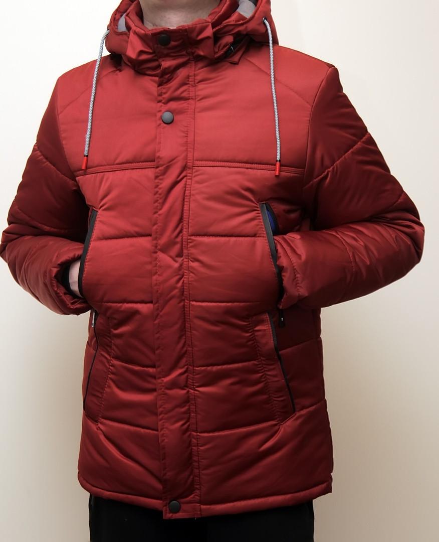 Куртка мужская зимняя бордовая. Куртка чоловіча зимова.ТОП КАЧЕСТВО!!!