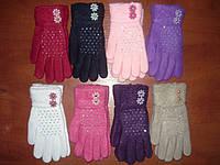 Детские перчатки Корона. Шерсть. Девочка. р. М., фото 1
