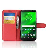 Чехол книжка для Motorola Moto G6 XT1925 Красный