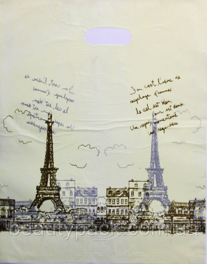 Пакет поліетиленовий Банан Париж 35 х45 см / уп-100шт