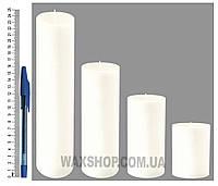 Свеча цилиндрическая, диаметр 6см, белая
