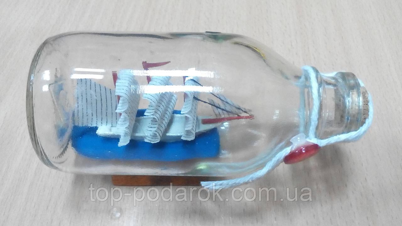 Корабль в бутылке размер 12*7*6 см