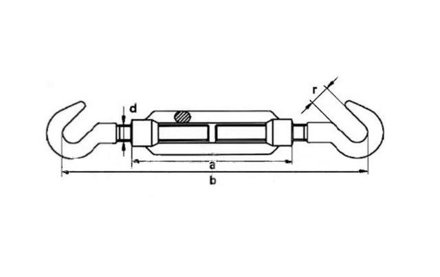 Талреп DIN 1480 тип крюк-крюк - купить