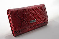 Кошелек женский красный лаковый натуральная кожа Karya 1088-019