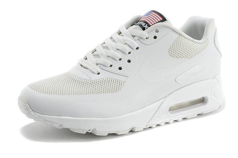 ce6ae356 Мужские кроссовки Nike Air Max 90 Hyperfuse All White (USA)   найк аир макс
