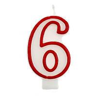 Свічка цифра 6