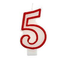 Свічка цифра 5