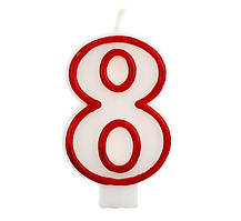 Свічка цифра 8