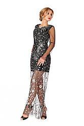 Вечернее платье 1119 чёрного цвета