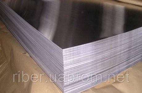 Лист н/ж  0,5 мм  1250x2500, 430, BA