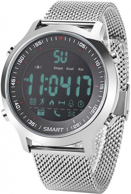 Умные смарт часы EX18 стальные
