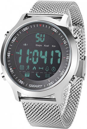 Умные смарт часы EX18 стальные, фото 2