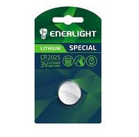 Батарейка ENERLIGHT LITHIUM CR 2025 BLI 1 (таблетка) 4823093502536