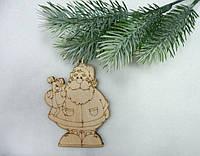 Подвеска Дед Мороз с собачкой 15см