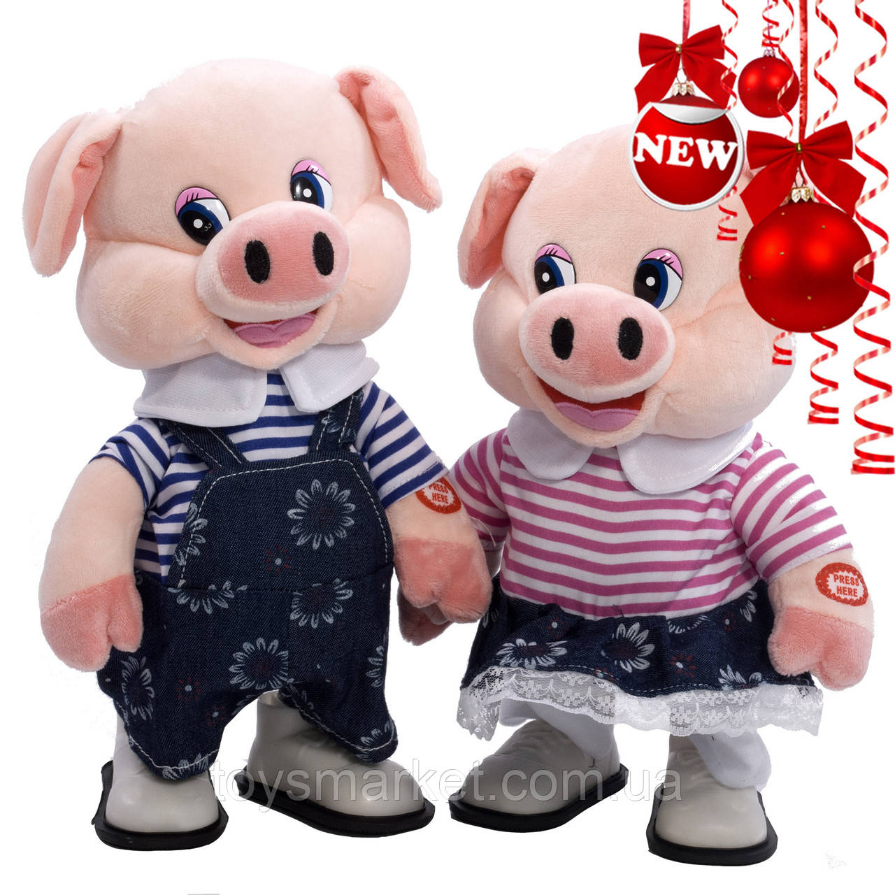 Детская мягкая игрушка, свинка интерактивная