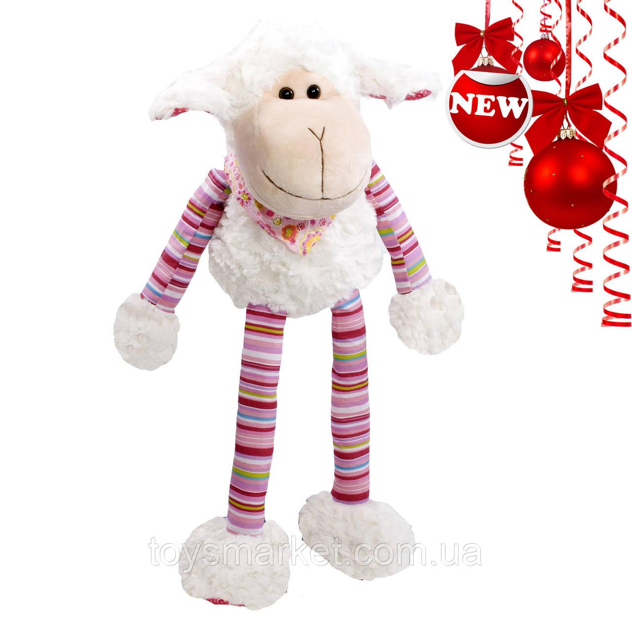 Мягкая игрушка овечка Бяшка, белая