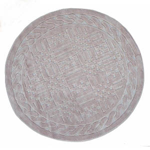 Килимок у ванну круглий 120 см Berceste Пудра Arya AR-1380026-pudra
