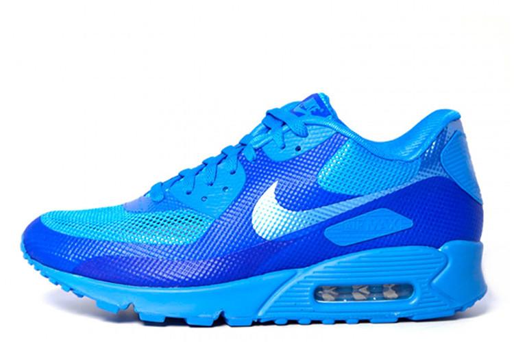 6be84e703dea Мужские кроссовки Nike Air Max 90 Hyperfuse 01М  найк аир макс 90 голубые