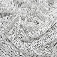 Тюль французька сітка, біла, кругла осередок, фото 1