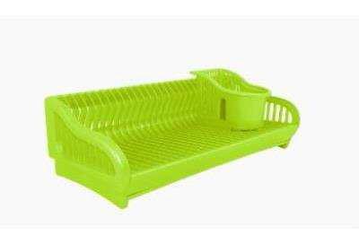 Сушка для посуду 2в1 53*23*19 см пластик сірий