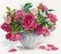 """Набор алмазной вышивки (мозаики) """"Букет розы и ромашки"""""""
