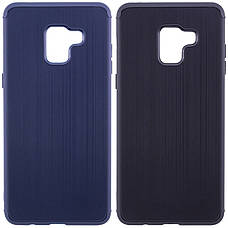 Чехол накладка Carbon для Samsung A530 Galaxy A8 (2018) Силикон Синий (486768), фото 3