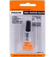 Клей Pasco супер клей гель C-007-3G/3г.  576/24/24 код 465