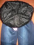 Бесшовные меховые термо лосины под джинс Натали. Норма.  р. 44-48. С рисунком, фото 7