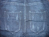 Бесшовные меховые термо лосины под джинс Натали. Норма.  р. 44-48. С рисунком, фото 6