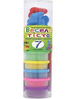 Пластилиновая паста Веселое тесто 7 цветов х 30 гр + 8 пластиковых форм (540237)