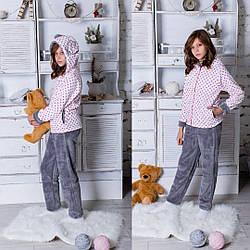 Пижама-домашний костюм махра  Подросток